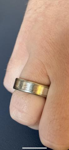 Mokume-Gane wedding band (Very