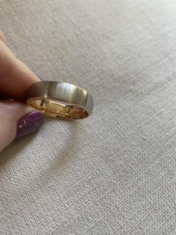 Platinum Band with 18k