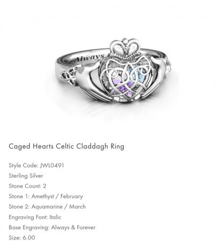 Women's Caged Hearts Celtic