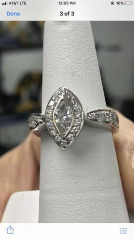 Custom Marquise wedding ring