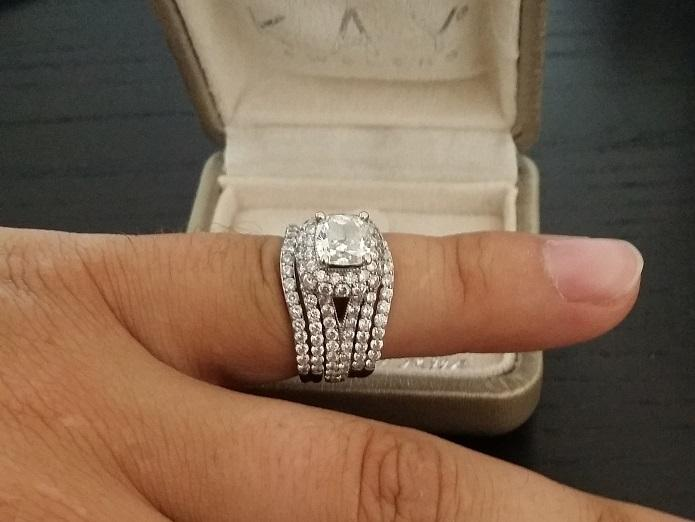 2448337f5 Neil Lane 3 Ct. Engagement Ring with matching wedding bands. | I Do ...