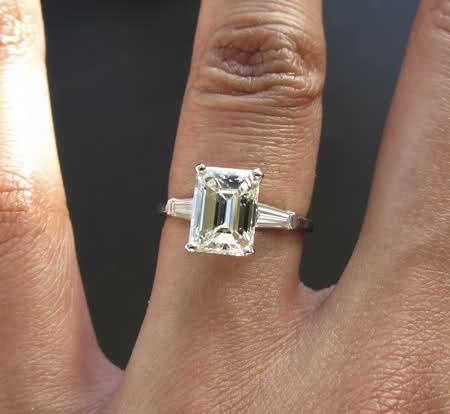 Beautiful Classic 1 94 Carat Emerald Cut Diamond Ring