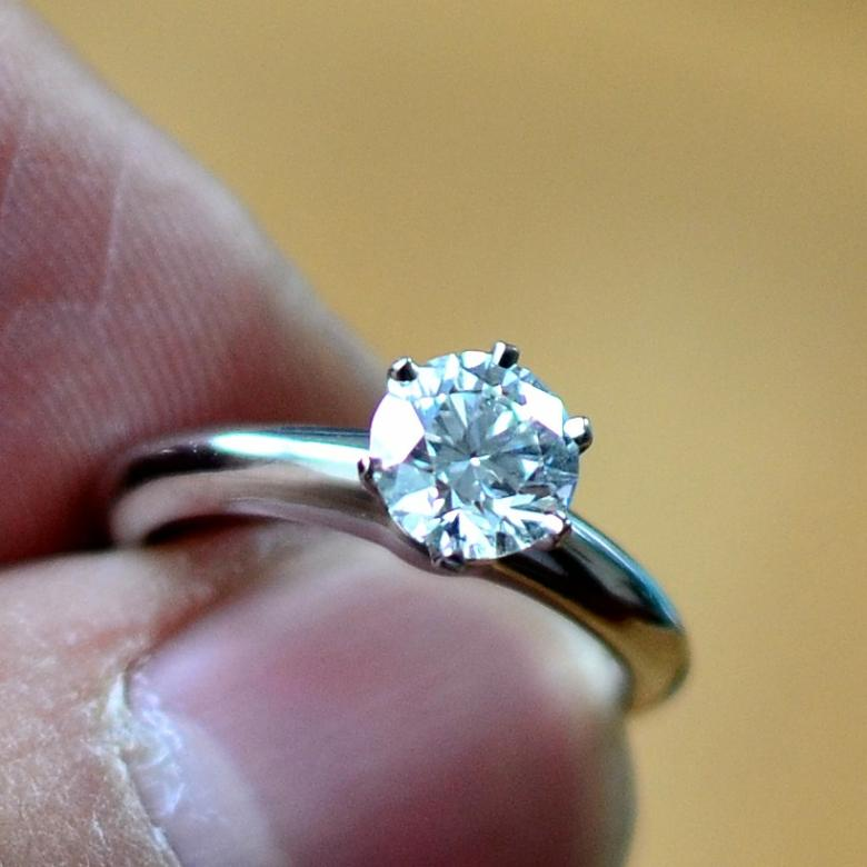 Tiffany Amp Co Round Brilliant Cut Diamond Engagement Ring In