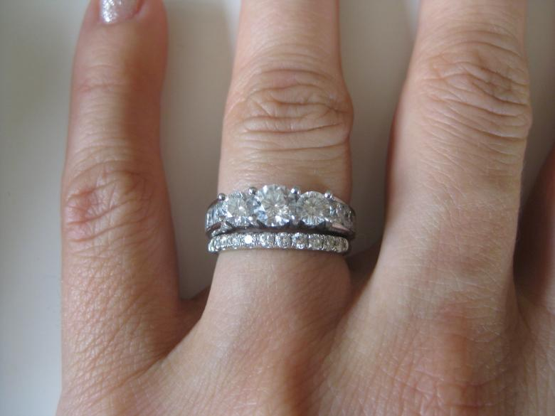 Stunning past present future right hand ring paid 3187 200 ct prev next mozeypictures Image collections