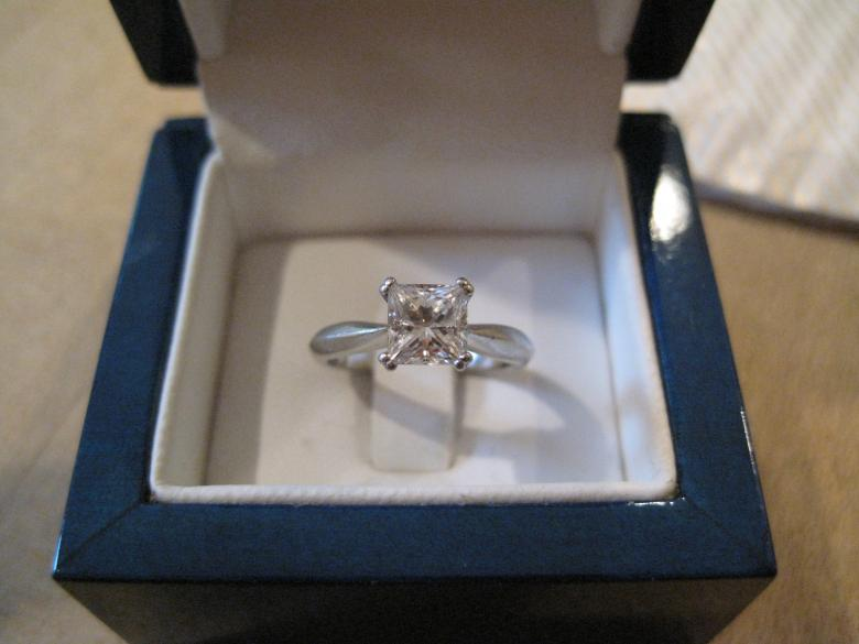Princess Cut 1 04 Carats Internally Flawless And Colorless Diamond Ring I Do Now Don T