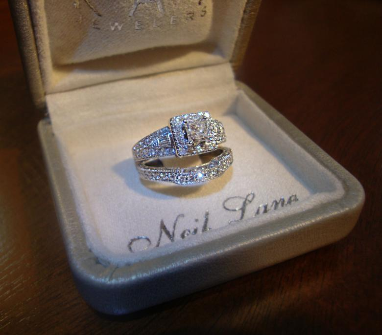 Neil lane princess cut 1 13 carat engagement ring and band i do prev next junglespirit Choice Image