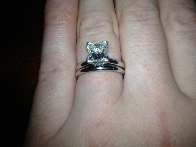 platinum ladies diamond solitaire engagement ring and wedding band i do now i dont - Solitaire Engagement Ring With Diamond Wedding Band