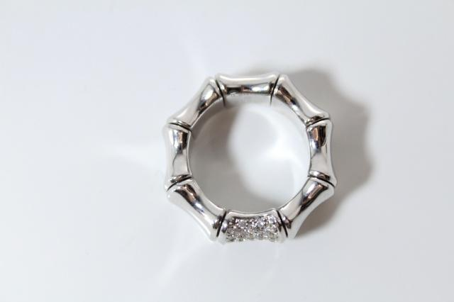 85eb2e6b0 Gucci Bamboo Ring - 18k White Gold with Diamonds | I Do Now I Don't