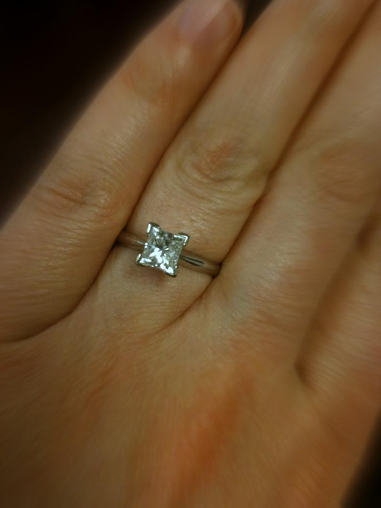 Classic 1 02 Carat Princess Cut Solitaire I Do Now I Don T