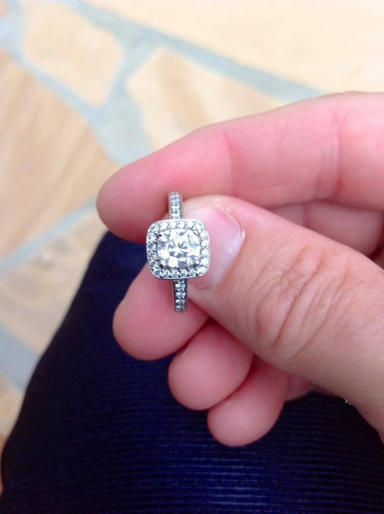 1.5 CTW Diamond Engagement Ring in 14 KW White Gold; Center stone ...