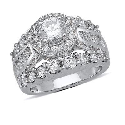 Gorgeous 3 1 2 Ct T W Baguette And Round Diamond