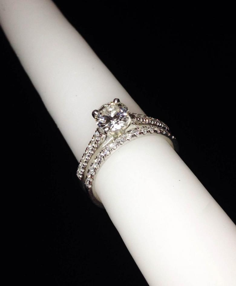 Gorgeous Petite Cathedral Pave Diamond Engagement Ring And Wedding