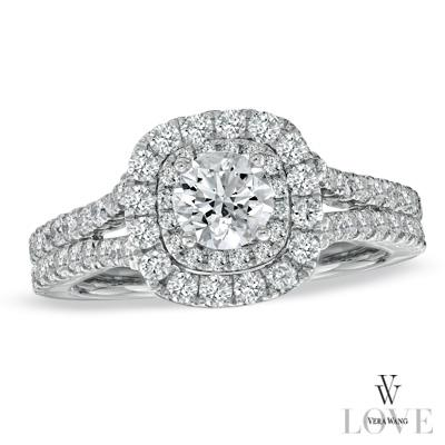 vera wang love collection engagement ring w free matching wedding ring size 5 i do now i dont - Vera Wang Wedding Ring
