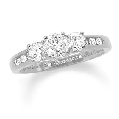 0ee2b7749cf81 Zales Past Present Future 3 Stone Diamond Ring