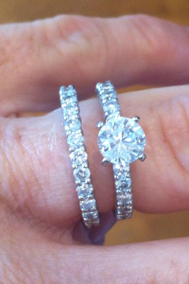 1 02 Carat Eternity Engagement Ring And Band I Do Now I
