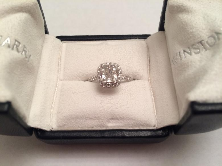 Harry Winston Cushion Cut Micropave 15 ct Engagement Ring Wedding