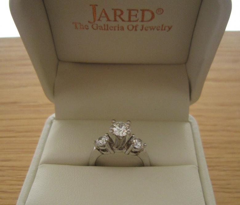 Three Stone Diamond Ring from Jaredsretail 12000 I Do Now I Dont