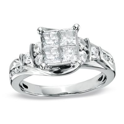 STUNNING ZALES DIAMOND ENGAGEMENT RING W LIFETIME WARRANTY I