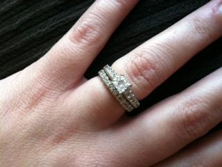 Diamond Engagement Princess Cut Ring Wedding Band Center Stone Is 5 Carat I Do Now Don T