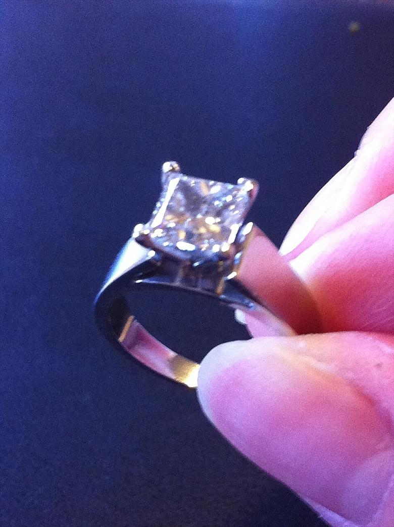 1 5 Carat Princess Cut Diamond With Platinum Band I Do