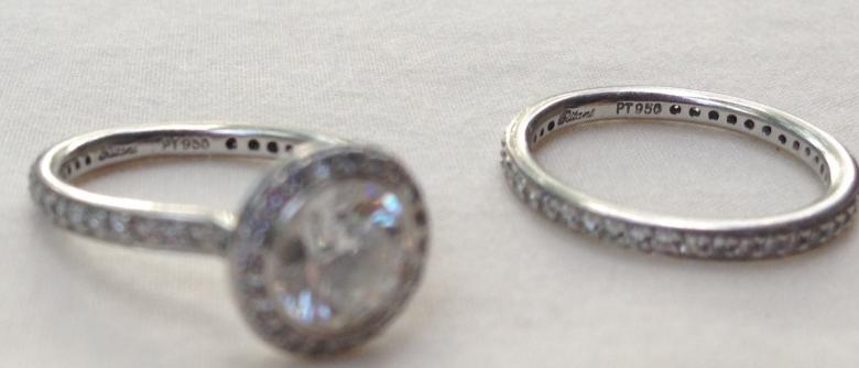 Ritani Endless Love Collection Platinum Engagement Ring And