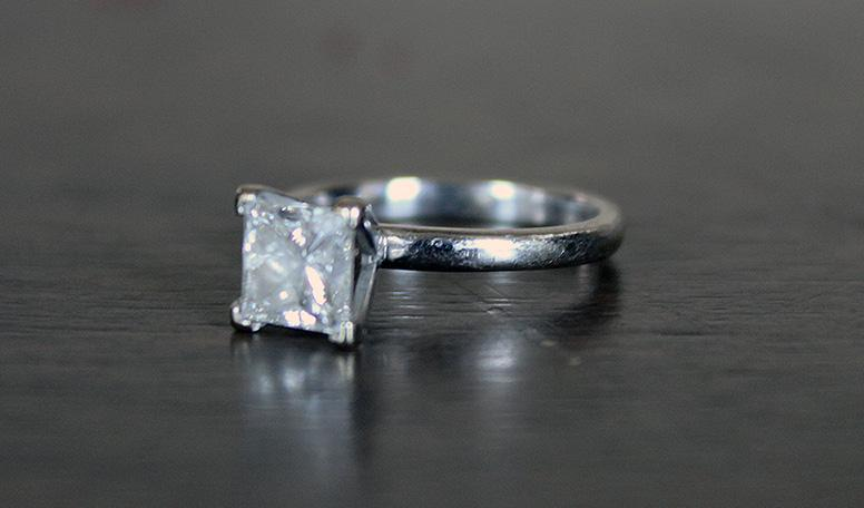 Princess Solitaire 1 16 ct SI2 Clarity G color Market Value over $5 2k
