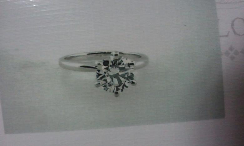 1.57 TC platinum solitaire