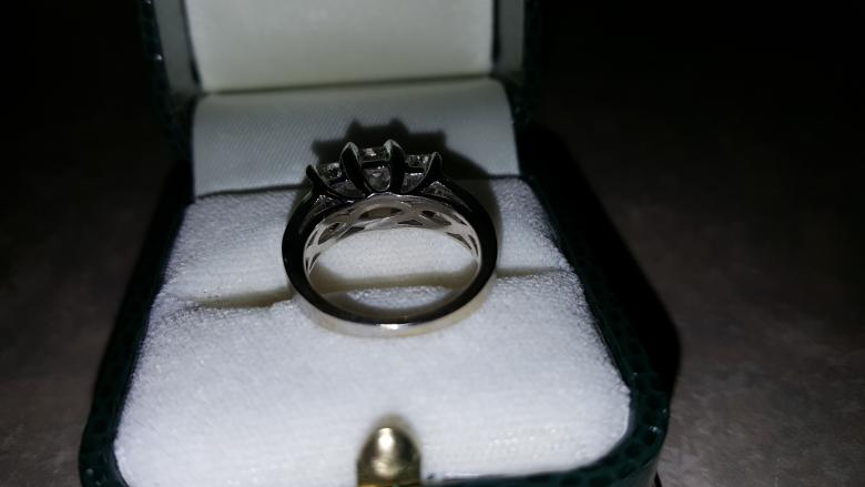 3 00 Tri Stone Princess Cut Engagement Ring