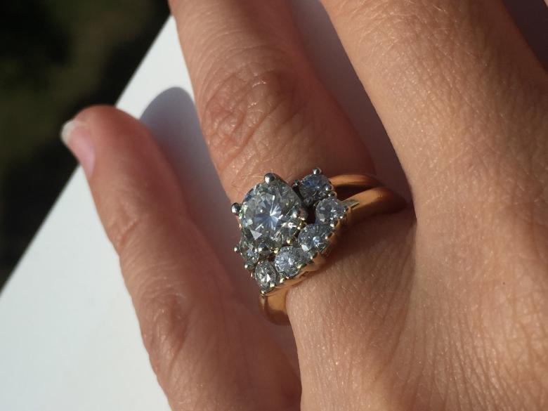 GORGEOUS custom certified three-stone