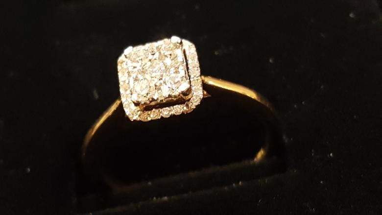 14k Yellow Gold Cluster