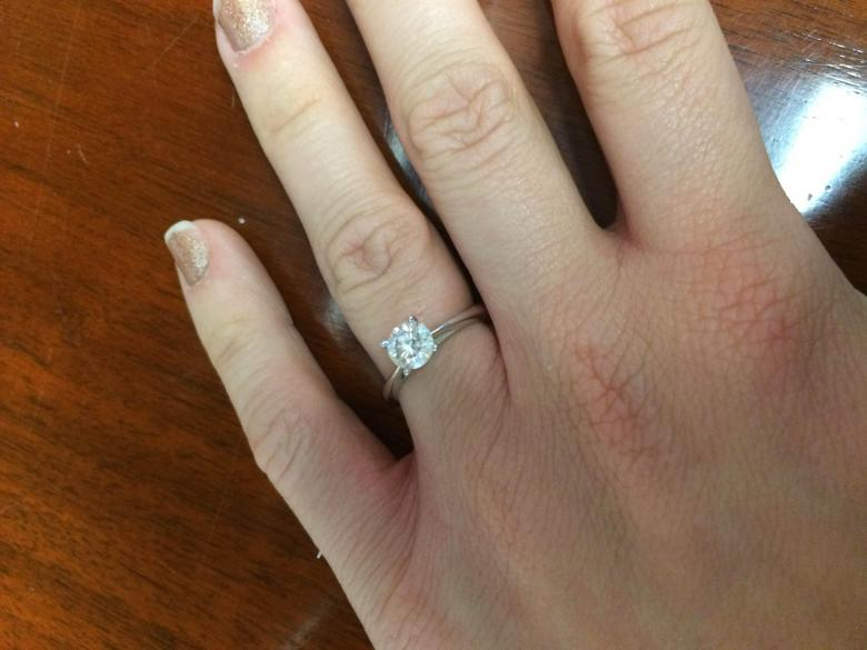 Zales Celebration Fire 0 76ct Solitare Engagement Ring in 18K White Gold $6 0