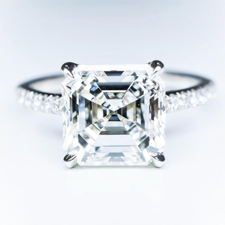 for jewelry engagement sale carat ring platinum rings j asscher id cut wedding l gia diamond certified
