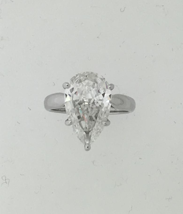4.37 Carat Pear Shape
