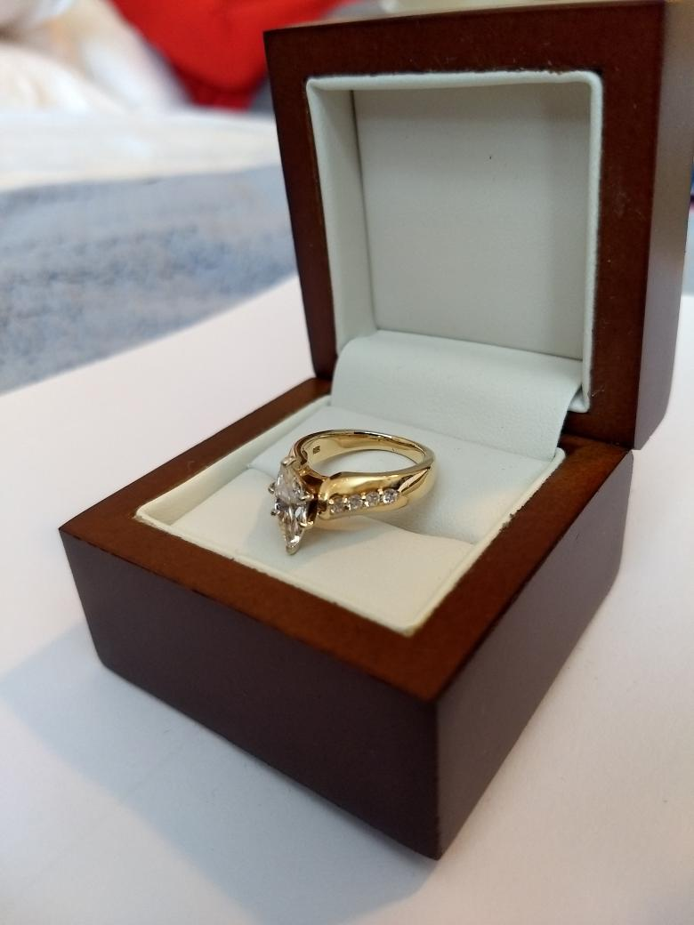 **REDUCED** Marquise diamond engagement