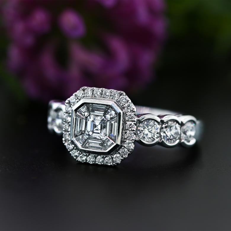 Modern Engagement Ring with