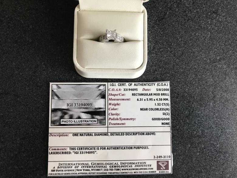 1.52CT Engagement Ring