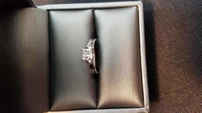 Princess Cut Solitaire in