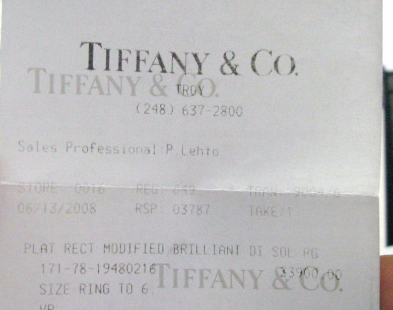 Tiffany & Co Platinum