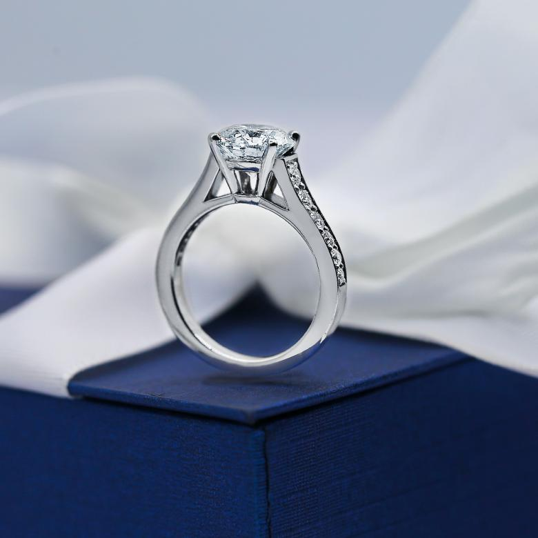 SOLD!!Platinum Engagement Ring with