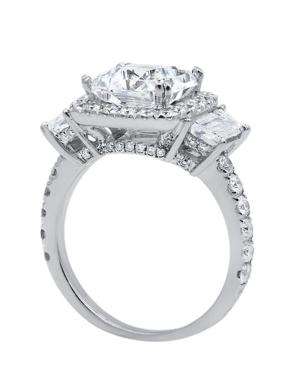 Certified14k White Gold Engagement