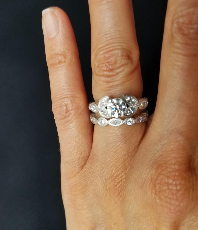 Custom Platinum Antique Engagement