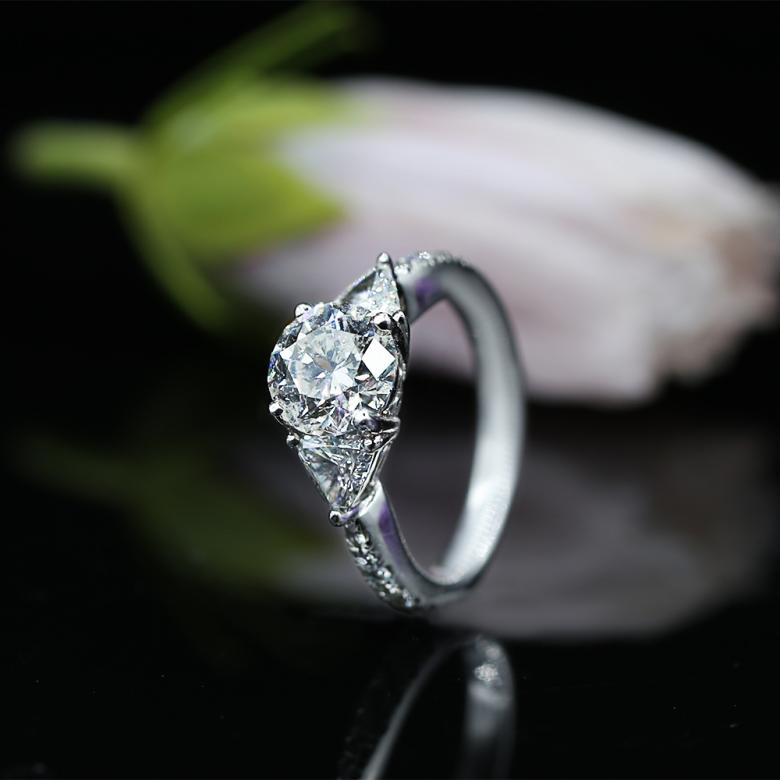 Three-Stone Engagement Ring with