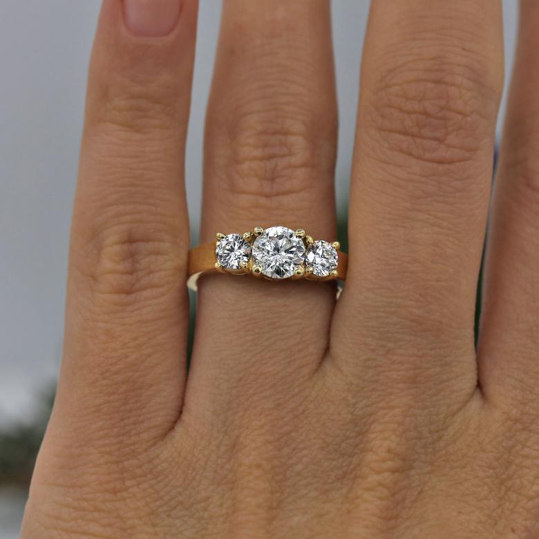 Classic Three-Stone Diamond Engagement