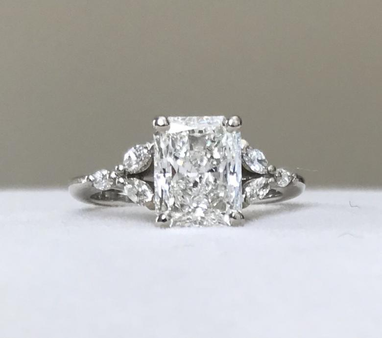 GORGEOUS!! Custom 2.29ct Radiant