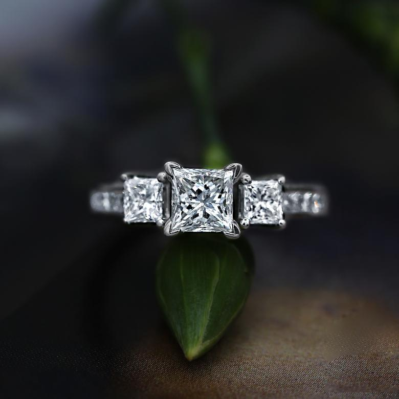 Three-Stone Engagement ring features