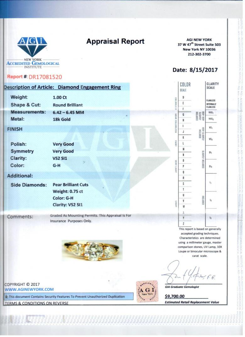 AGI certified 1.75 cts