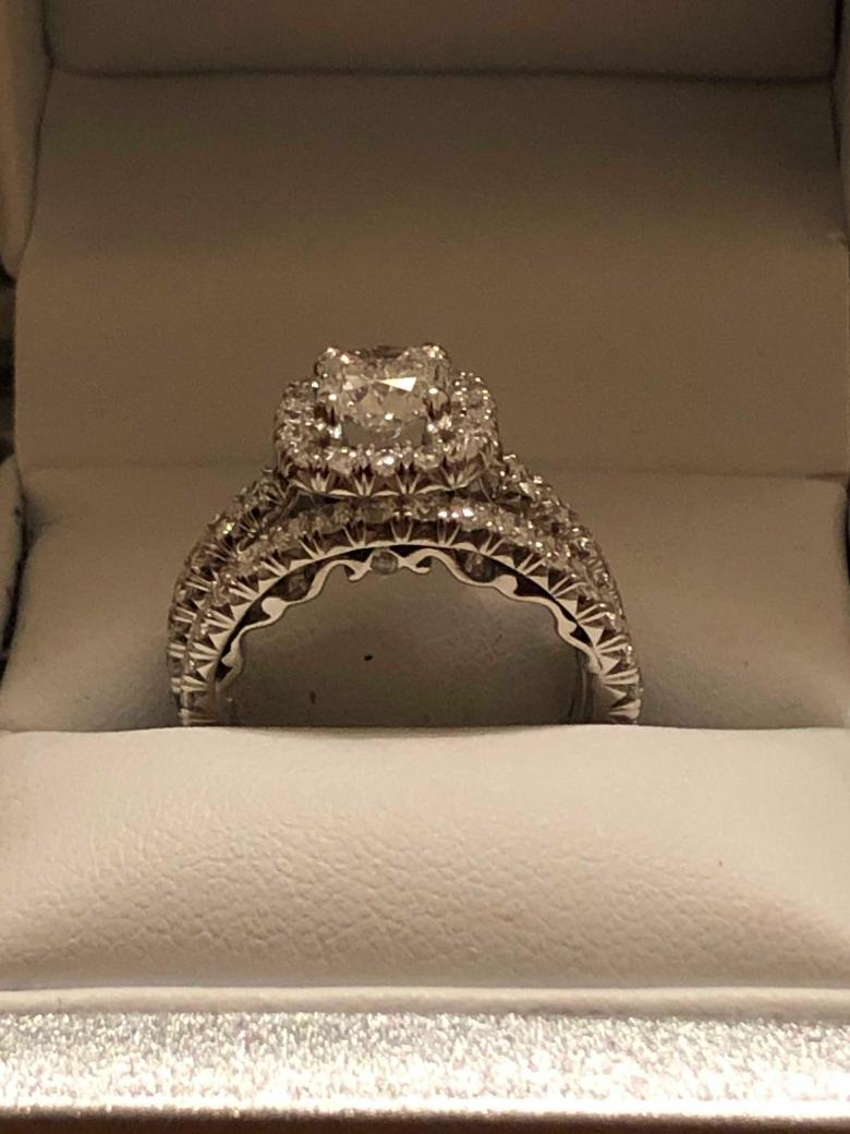 1 02 Carat Engagement Ring W Matching Band Finger Size 5