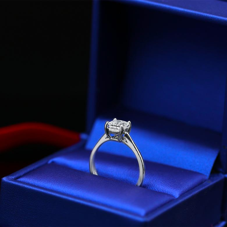 Amazing White Gold Engagement