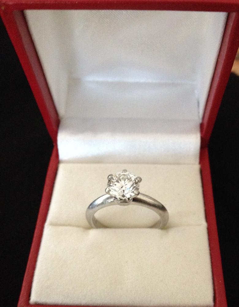 Tiffany Engagement Ring 1.37c