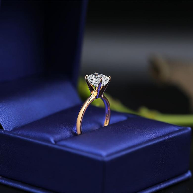 14k Rose Gold Solitaire